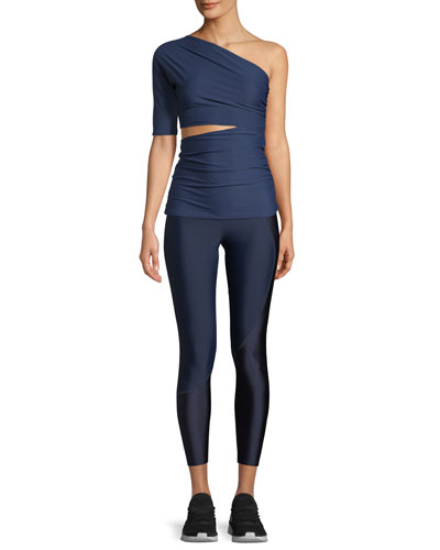 Narcisa One-Shoulder Cutout Activewear Top and Matching Items