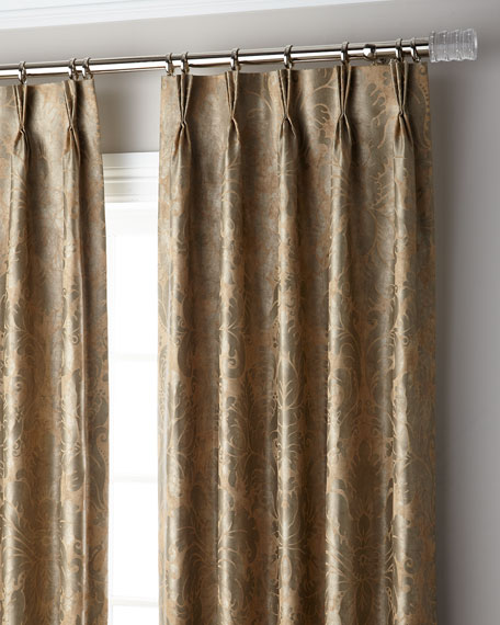 "Misti Thomas Modern Luxuries Bellamy 3-Fold Pinch Pleat Blackout Curtain Panel, 96"""
