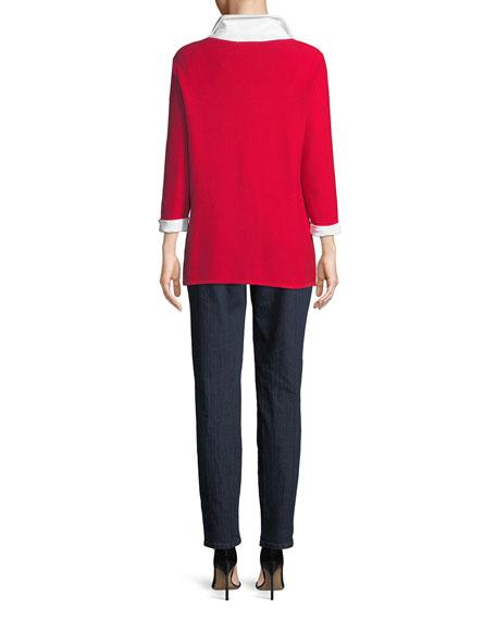 3/4-Sleeve Collared Shirt