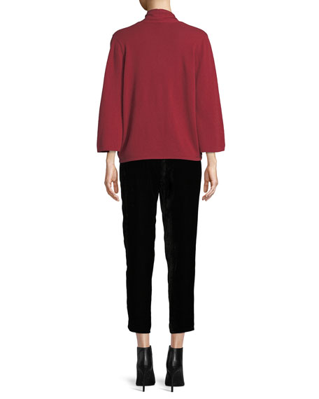 Eileen Fisher Cashmere Faux-Wrap Top