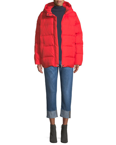 Quilted Nylon Hooded Coat, Petite and Matching Items