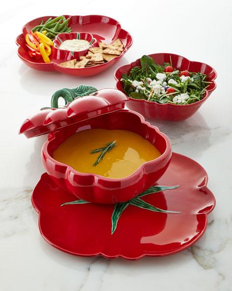 "Bordallo Pinheiro Tomato Dessert Plate, 8.3"""