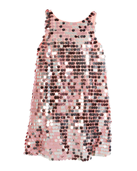 Sequin Angular Shift Dress, Size 4-7
