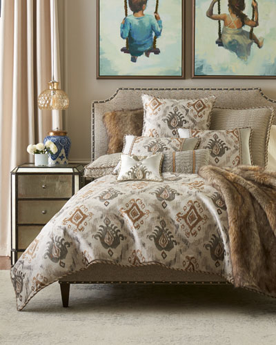 Carte Le Blanche Ikat King Duvet  and Matching Items