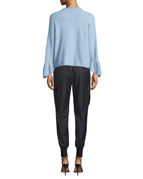 3.1 Phillip Lim Pullover Sweater With Ruffle Cuffs