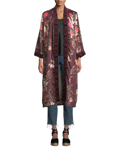 Velvet Mix Napa Fields Printed Kimono and Matching Items