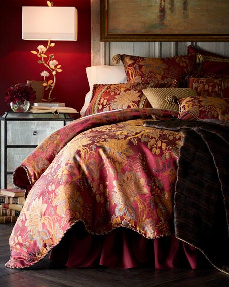 Sweet Dreams Francesca Scalloped Floral Queen Duvet