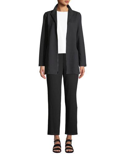 Travel Ponte Zip-Front Jacket  and Matching Items, Petite