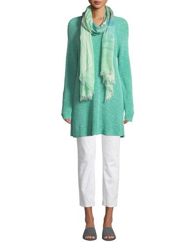 Linen Cotton Slub Tunic Sweater and Matching Items, Petite