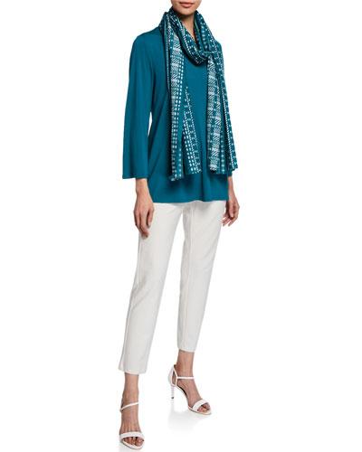 V-Neck Bracelet-Sleeve Jersey Top and Matching Items