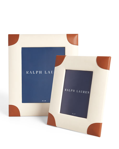 """Ralph Lauren Home Ryan Leather Picture Frame, 8"""" x 10"""""""