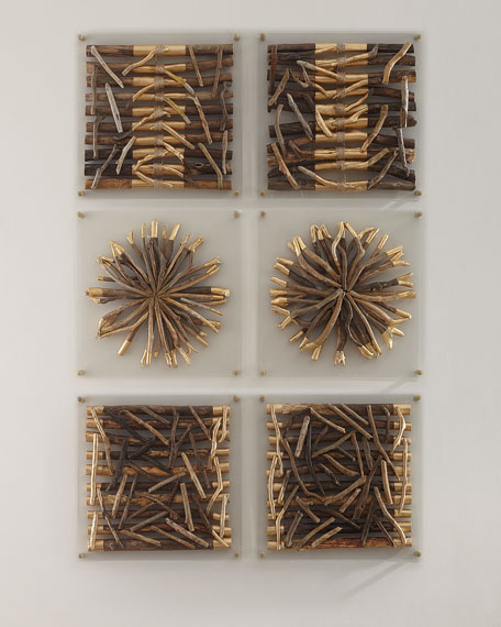 Palecek Acrylic Driftwood Striped Wall Decor