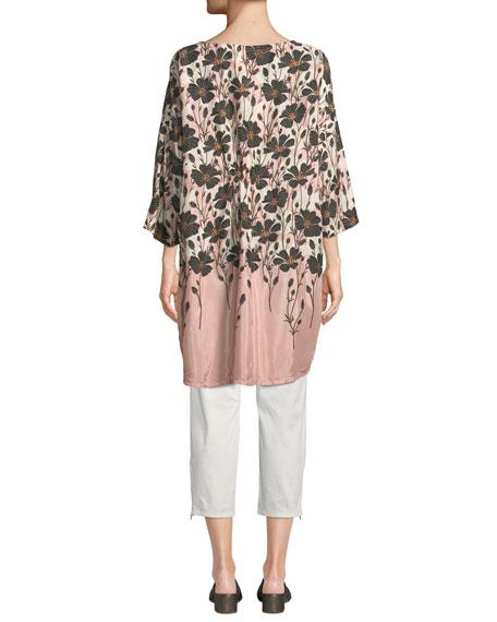 Masai Padme Cropped Chino Trousers w/ Pockets & Zip-Hem