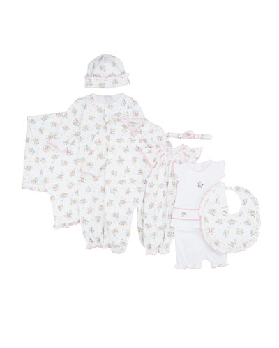 Petite Pansies Pima Convertible Gown  Size Newborn-S  and Matching Items