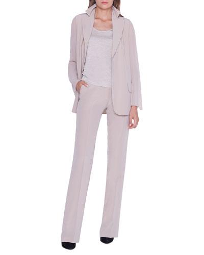 Alea Chiffon-Sleeve Open Jacket and Matching Items