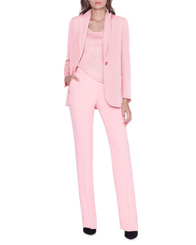 Amandine One-Button Silk Jacket and Matching Items