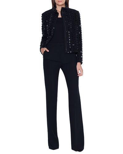 Andorra Stone-Embellished Zip Front Jacket and Matching Items