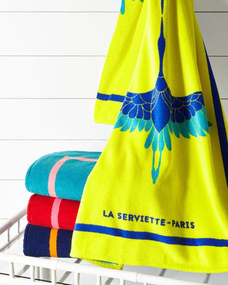 La Serviette Paris Heron Beach Towel, Blue