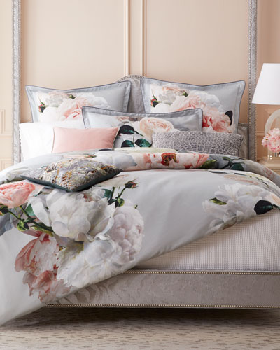 Peonia Grande Zinc Queen Duvet  and Matching Items
