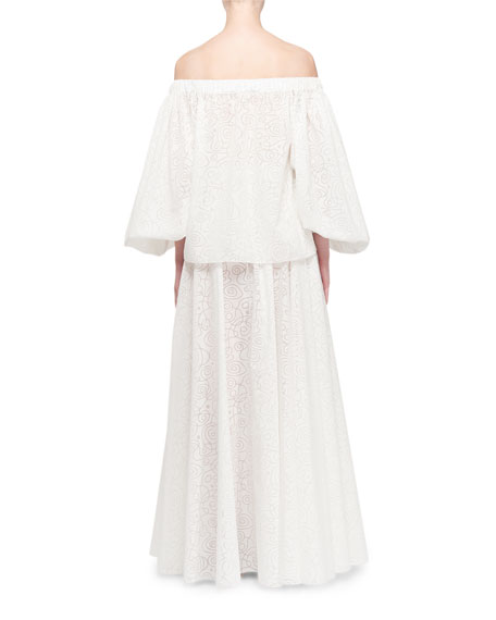 ALAIA Off-The-Shoulder Full Sleeve Blouse