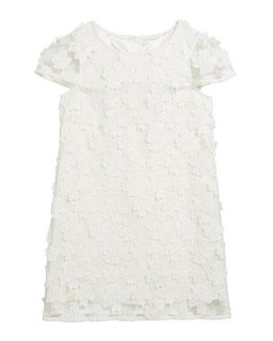 998eaca6 Milly Minis Chloe 3D Floral Applique Dress, Size 2T-6 Chloe 3D Floral  Applique