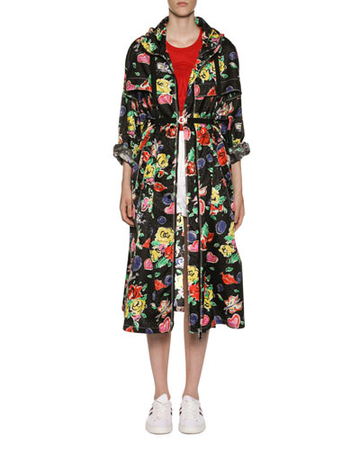 Long Heart & Flower Raincoat and Matching Items