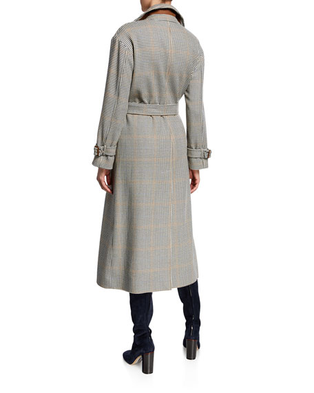Loro Piana Linford Fancy 70s Plaid Wrap Coat
