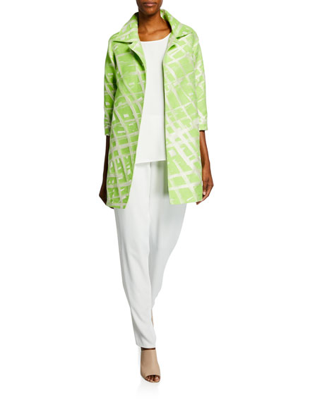 Caroline Rose Citrus Jacquard Party Jacket