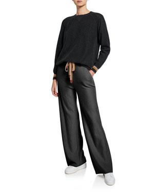 f232111a9c4aea Loro Piana Cashmere Crewneck Suitcase-Striped Sweater Cashmere  Suitcase-Stripe Joggers