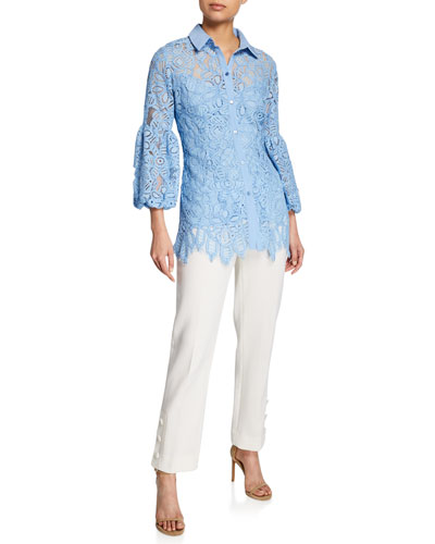 Full-Sleeve Lace Shirt and Matching Items