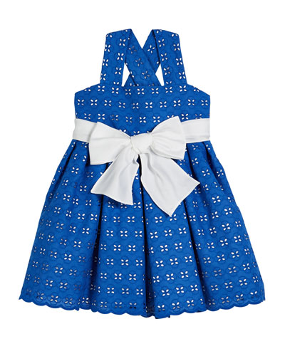 Two-Tone Eyelet Sun Dress  Size 2-6  and Matching Items
