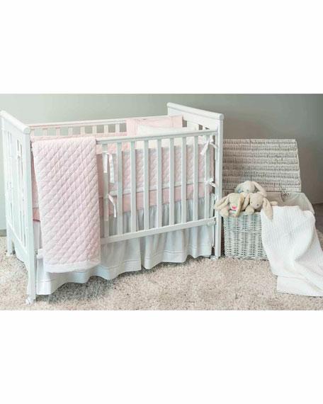 Bovi Fine Linens Amparo Crib Dust Skirt, White