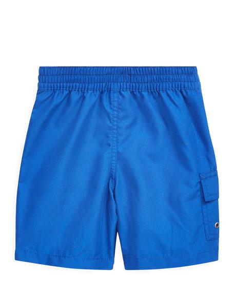 Ralph Lauren Childrenswear Kailua Wet-to-Dry Swim Trunks, Size 2-4