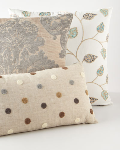 Puff Dotty Natural Pillow  and Matching Items