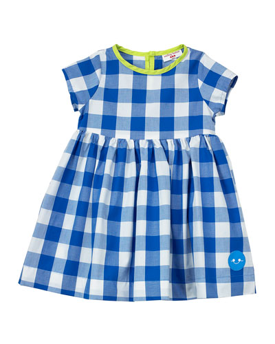 Gingham Short-Sleeve Dress w/ Neon Trim  Size 18M-6  and Matching Items