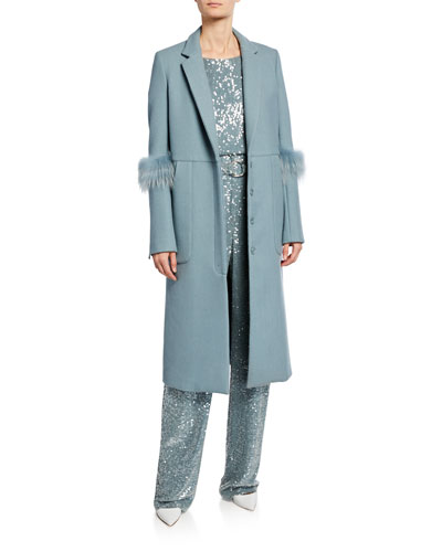 Bonded Wool Seamed Tailor Coat and Matching Items