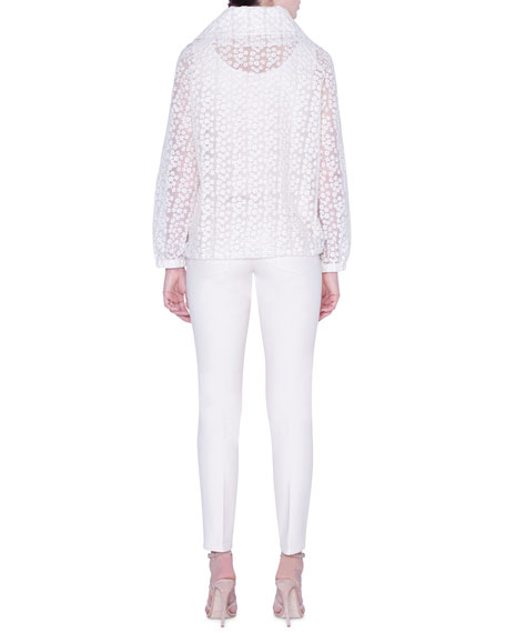 Akris Clelia Daisy Embroidered Organza Jacket