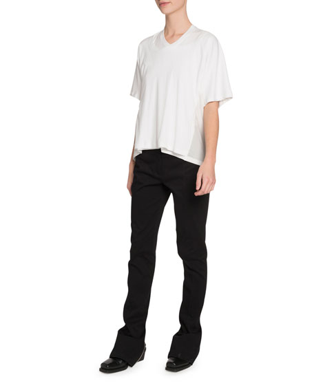 Proenza Schouler Double-Neck Short-Sleeve T-Shirt