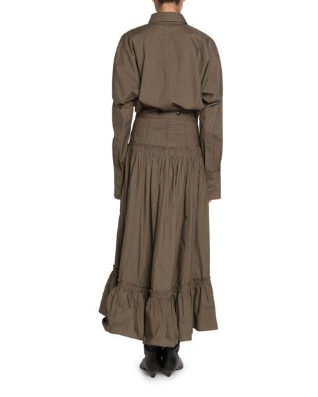 Proenza Schouler Cocoon-Sleeve Menswear Shirt
