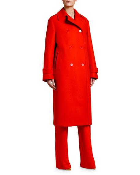 Stella McCartney Long Double-Breasted Easy Coat