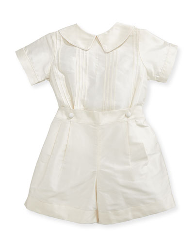 Boys' Sebastian Two-Piece Silk Ring Bearer Set  Ivory  Size 12-24 Months and Matching Items