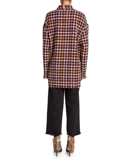 Isabel Marant Dianaly Check Tweed Coat