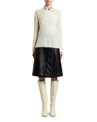 Cashmere-Wool Open-Weave Sweater and Matching Items