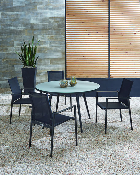 Lane Venture Dining Table with Glass Top