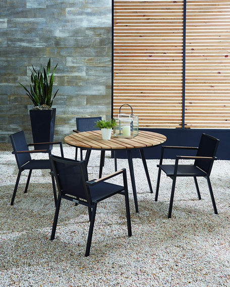 Lane Venture Outdoor Dining Table with Teak Top