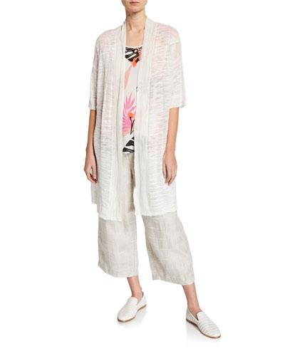 Laxmi Oversize Half-Sleeve Melange Cardigan and Matching Items