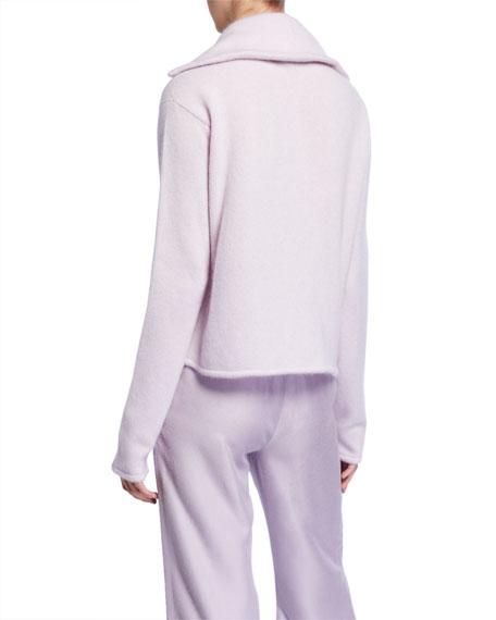 Sally LaPointe Airy Cashmere-Silk Boxy Sweater