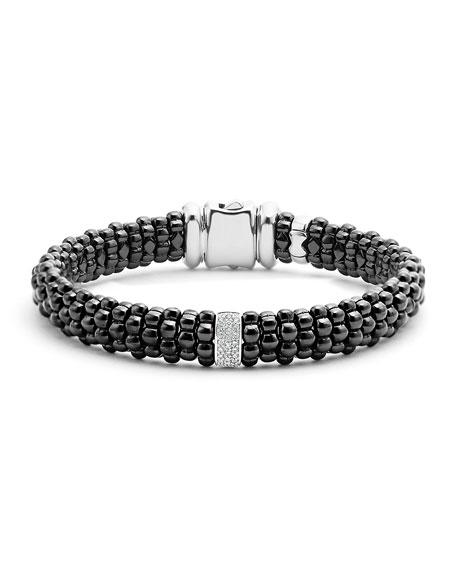 LAGOS Black Caviar Bracelet with Diamond Station