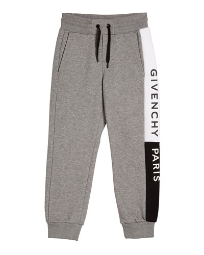 Boy's Heathered Logo Trim Joggers  Size 4-10  and Matching Items