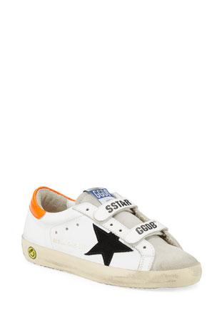 Golden Goose Boy's Old School Leather Sneakers, Baby/Toddler Boy's Old School Leather Sneakers, Toddler/Kids